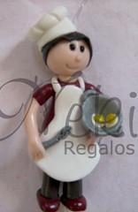 Cocinera (Neki Regalos) Tags: fimo mano figuras muecas artesania agujas regalos complementos muequitas broches arcilla nekis