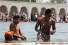 Kids Playing in Gurudwara sarovar (Rishabh Kant Photografy) Tags: punjab gurudwara sarowar kidsingurudwara