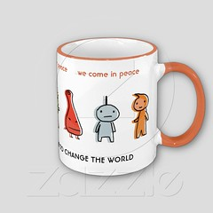 Aliens Come in Peace with Customizable Text Coffee Mugs (Gwise) Tags: mugs wecomeinpeace kawaiigifts customizablegifts cutedesigns cutegifts giftmugs cutemugs customizablemugs alienscomeinpeace kawaiimugs