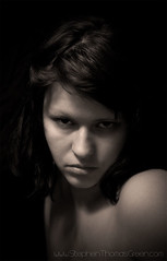 Holly-moody (stephen thomas green1) Tags: portrait blackandwhite dark naked moody modeling sb600 holly portraiture stark warmtone d300 sb900 deepstare