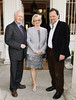 Judges Ciaran Carty, Deirdre Purcell and Giles Foden at the Hennessey Literary Awards held in the French Ambassadors Residence