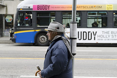 Buddy (w.d.worden) Tags: busstop elderlygentleman