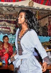 Night Club, Addis, Ethiopia (Rod Waddington) Tags: africa club night dress traditional dancer ethiopia addis ababa