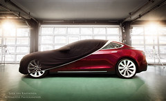 Tesla Model S (Luuk van Kaathoven) Tags: red electric model rotterdam signature s center ev cover het vehicle van centrum tesla nieuwe rijden luuk luukvankaathovennl kaathoven