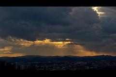 Friday #3 (Lunapic.) Tags: barcelona street wood sunset building clouds sunrise de soleil blurry nikon view cloudy bokeh f14 balcony 14 smooth coucher mm ruelle nikkor 50 tamron rue balcon 70200 mirador flou lever d800 d4 nikor d7000