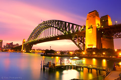 Sydney Harbour Bridge (-yury-) Tags: longexposure bridge sunset water night photography cityscape harbour sydney australia nsw kirribilli landscscape