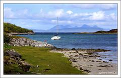 to Rum and Eigg from Camas an t-Salainn (Duncan Darbishire) Tags: scotland yacht rum arisaig eigg duncandarbishire