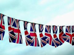 Jubilation- Station ! (Eleanor Howell) Tags: blue red white jubilee flags fluttering flutter bunting