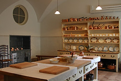 Ickworth House Kitchen table and dresser (FlyingV99) Tags: park trees music house lake clock church monument kitchen st garden vineyard library room workshop dining rotunda summerhouse ovens ickworth national trust quarters bury edmunds servants