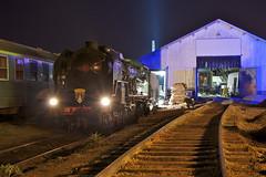 Préparation (Tchou') Tags: night train rail steam locomotive railways nuit sncf vapeur 241p17 241p