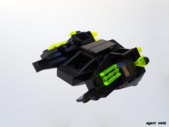 Scorpion Starfighter (Jannac Fenwal) Tags: black stars crystals space scorpions frogs starfighter frogspace