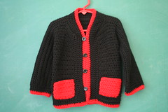 Cozy Vintage Handmade Sweater (honor) Tags: red black vintage cozy sweater toddler etsy cardigan 5t 4t