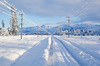 Snow lines, symmetry (Le Fabuleux Destin d'Amélie) Tags: road morning autumn trees winter newzealand snow storm mountains field lines sunshine weather june electric train still power post pentax arthurspass perspective tracks 8 canterbury symmetry powerlines zealand southpacific roadclosed snowfall southernalps aotearoa midland paddock trainline telegraphpoles k7 canterburyplains 1645mm torlesse