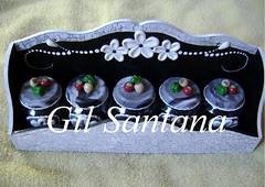 Porta condimento craquelê (GIL SANTANA BISCUIT) Tags: branco preto e porta condimento craquelê