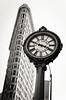 (GaryTumilty) Tags: nyc newyorkcity windows bw white abstract black clock architecture skyscraper mono time 5thavenue flatironbuilding