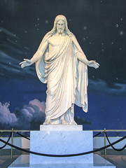 Salt Lake City Temple Square - Statue of Christ in North Visitors Center (*Checco*) Tags: sky sculpture usa white lake love church statue america square stars religious temple hall utah worship day christ symbol god interior space faith unitedstatesofamerica religion jesus salt saints belief indoor landmark visit historic christian replica holy saltlakecity devotion sacred planet granite tall mormon christianity marble spirituality spiritual universe lds christus savior latter