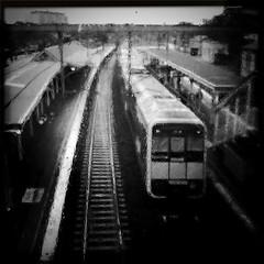 "Tangara at Redfern (Trent ""Raichase"" Nicholson) Tags: blackandwhite monochrome redfern cityrail tangara iphotography hipstamatic"