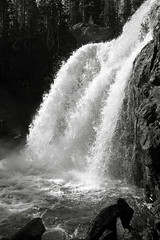 Rushing Water (andrewpug) Tags: blackandwhite white black fall water beautiful waterfall sunny rushing gushing