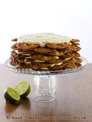 Key Lime Icebox Cake (Bitter-Sweet-) Tags: summer cookies cake magazine dessert vegan cool sweet coconut creme citrus lime macadamia refreshing creamy chilled julyaugust vegnews