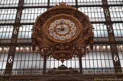 HDR Station Clock Muse d'Orsay, Paris (Stefano Guastalegname) Tags: paris france clock station museum gold time watch museo ora orologio travle stazione francia viaggi orsay parigi esposizione muse