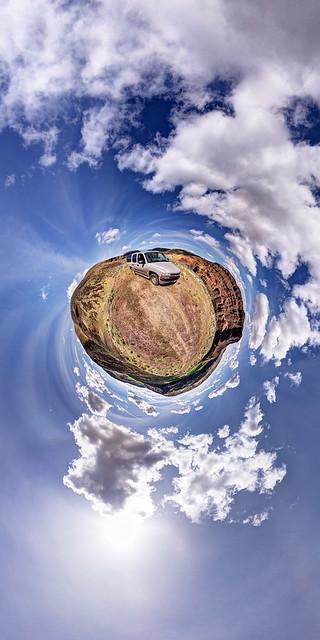 panorama landscape washington desert stitched 360x180 basalt stereographic ptgui equirectangular flexify2 littleplanet mosescoulee canon15mm nodalninja3 douglascreek canon5dmk2 garretveley slackcanyonroad chevroletsuburban2004
