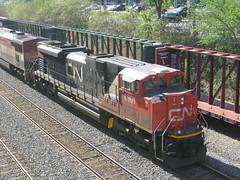 CN 8901 & BCOL 4610 east through Ville St-Pierre (Michael Berry Railfan) Tags: cn ge dash8 gmd bcrail sd70m2 villestpierre