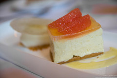 Light & Fluffy (vincentchao) Tags: light food dessert cheesecake delicious grapefruit refreshing creamy gelatin foodphotography lemonsorbet