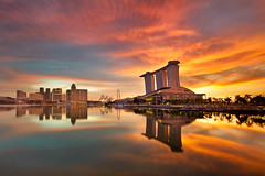 epic return (Jazpar) Tags: longexposure sunrise singapore esplanade mbs goldenhours marinabaysands epiclight
