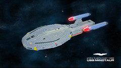 USS Minotaur (Babalas Shipyards) Tags: trek star ship lego scifi spaceship fleet uss microscale