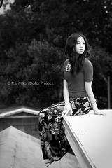 On top. (The Million Dollar Project) Tags: pictures blackandwhite black girl canon photography eos 50mm mixed flickr downtown curly adobe 7d fl pinay filipina pensacola darkhair mdp floralskirt lightroom4 spamda donnmilton
