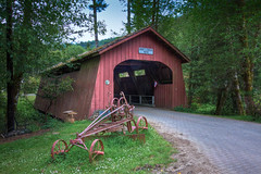 Drift Creek (Bear Creek) Covered Bridge, near Lincoln City, OR (sandyhd) Tags: oregon coveredbridges driftcreek oregoncoveredbridges