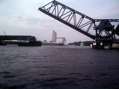 Lift Bridge (j_wrobel) Tags: bridge water wisconsin river mississippiriver blackriver lacrosse