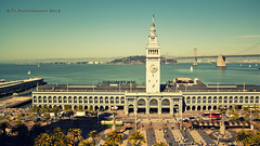 Ferry Building by the Bay (S Ty Photography) Tags: sanfrancisco california treasureisland ferrybuilding sanfranciscobay touristattraction oaklandbaybridge canon500dt1i