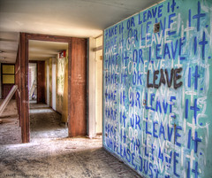 take it or leave it (LexART Photography) Tags: house leave austria haus it psycho take verlassen psychodelic urbex wandbemalung nehmen