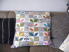 My new pillow ... (monaw2008) Tags: squares cover quilting patchwork applique cushion handmadepillow monaw monaw2008