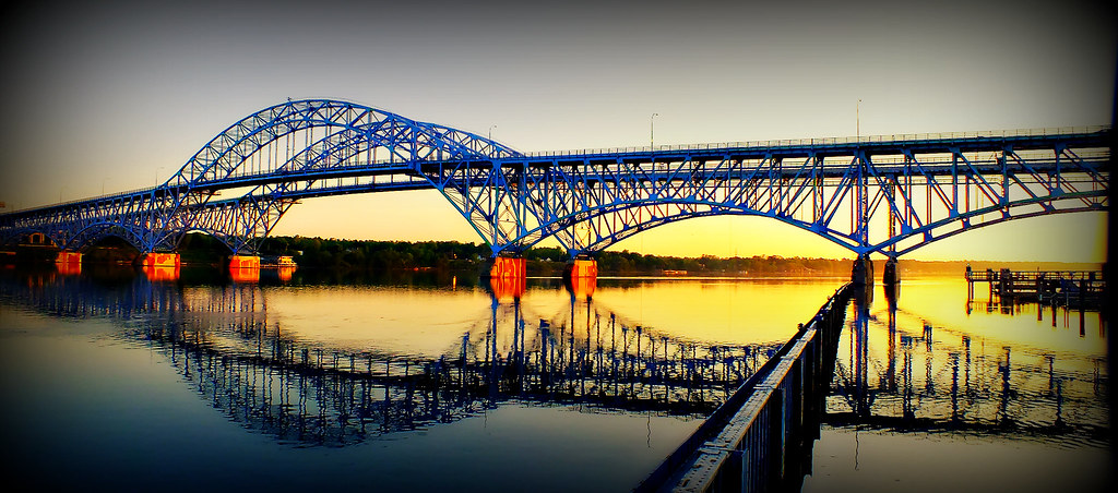South Grand Island Bridges at Sunrise (Explored)