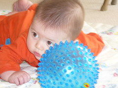 leo with his sensory ball
