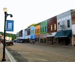 The Other Side of Main Street (bluerim) Tags: mississippi mainstreet paintedbuildings yazoocounty yazoocityms