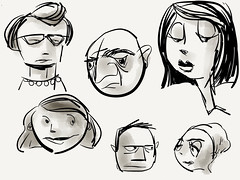 People in town (raccuia) Tags: sketch character cartoon ipad paperapp