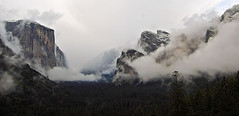 Wider view of  clearing storm in late May at Tunnel View, Yosemite, 6:14 pm. #4505 (andrys1) Tags: valleyview tunnelview clearingstorm gatesofthevalley stormclearing maysnowstorm