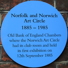 Norfolk and Norwich Art Circle 1885-1985 (Leo Reynolds) Tags: plaque canon is powershot f45 squaredcircle iso80 plaquenorwich sx210 hpexif 001sec plaques2 xsquarex xratio11x xleol30x sqset079