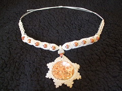 sun piece finished 020 (ARTISANPRODUCTIONS) Tags: etsy macrame makrame leopardjasper sunpendant macramenecklace sunpiecefinished makramenecklace dijesol