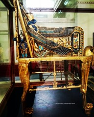 Detail of Tutankhamun's Throne chair (Amberinsea Photography) Tags: chair treasure egypt cairo throne tutankhamun cairomuseum goldenchair amberinseaphotography