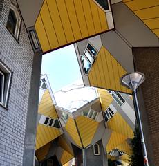 boomwoningen (parismargherita) Tags: houses netherlands yellow architecture grey rotterdam nikon blaak geometry cubes