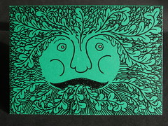 Green man (Dubris) Tags: green drawing card greenman foliatehead