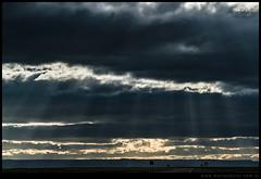 Rayos sobre la estepa patagonica
