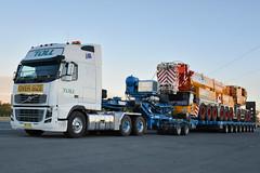 Volvo FH16 700 Oversize (Bourney123) Tags: truck volvo highway diesel crane trucks dolly heavy 700 trucking loaded horsepower oversize haulage