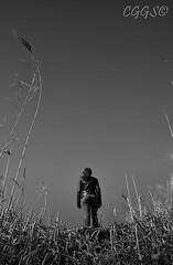 "Arriba, en el cielo ~ Up, in the sky (""CGGS Photography"" on Facebook) Tags: old autumn light sunset portrait sky people blackandwhite bw espaa sun byn blancoynegro me lines night clouds contrast photoshop fence dark photography mono fly spain nikon long photographer walk candid hill natur serene bnw fotografo fotografa fotografa airelibre monocromtico d90 landscapetrees cggs nikond90"