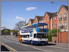 16698, Westbridge (Jason 87030) Tags: sky sun lamp volvo town northampton day centre northamptonshire may sunny flats route 50 northants stagecoach swanvalley drapery olympian 2016 thedrapery stjamesroad westbridge pineham