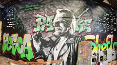 #sincity #mural by @djalouz #djalouz & @sheflaone #shefla & #pesca & #packe #2ac #hw #otm #lsk  #streetart #spray (pourphilippemartin) Tags: streetart mural spray pesca sincity hw otm lsk packe 2ac djalouz shefla